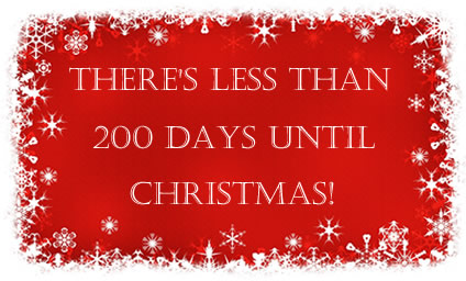 There's Less Than 200 Days Until Christmas Xmas Days