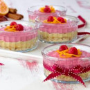 Orange And Raspberry Raw Cheesecakes