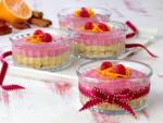 Orange And Raspberry Raw Cheesecakes