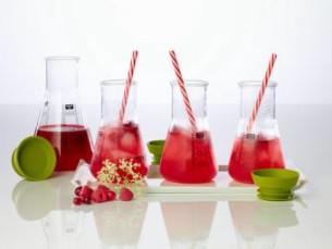 Raspberry, Apple And Elderflower Mocktails