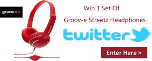 Win 1 Set Of Groov-e Streetz Headphones In Red