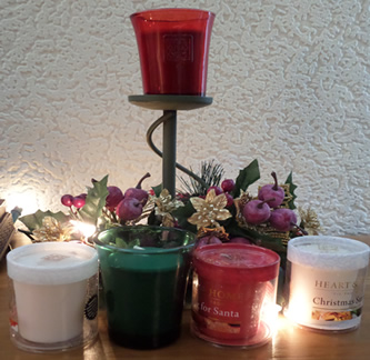 heart and home candle