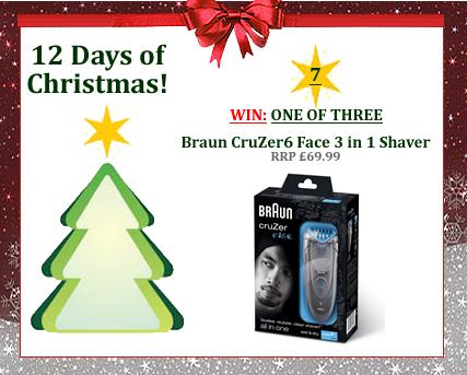 #UTCT12XmasDays WIN one of three Braun CruZer6 face shaver