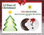 #UTCT12XmasDays WIN one of four hotel chocolat christmas chocolate wreath boxes