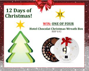 #UTCT12XmasDays WIN one of four hotel chocolat christmas chocolate wreath boxes