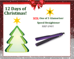 #UTCT12XmasDays Win one of three Glamoriser straighteners