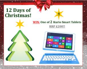 #UTCT12XmasDays Win Kurio Smart Tablets Christmas