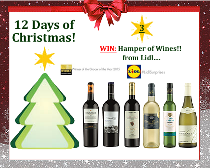#UTCT12XmasDays Win a hamper of wine from Lidl