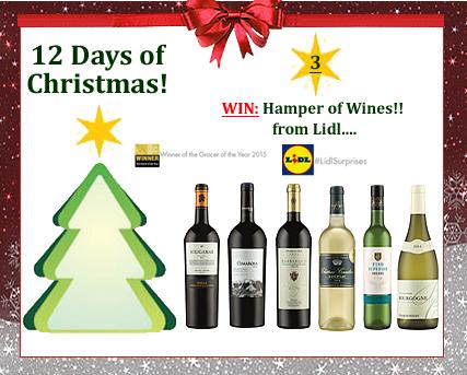 #UTCT12XmasDays Win a hamper of wine from Lidl