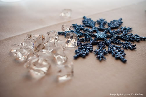 Snowflakes Winter Wedding