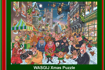 is WASGIJ The Big Turn On two 1000 piece Christmas puzzles games