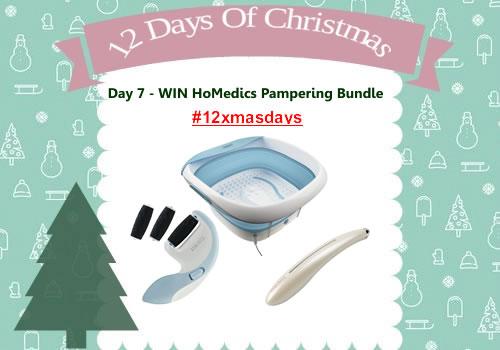 Day 7 #12XmasDays - WIN HoMedics Pampering Bundle