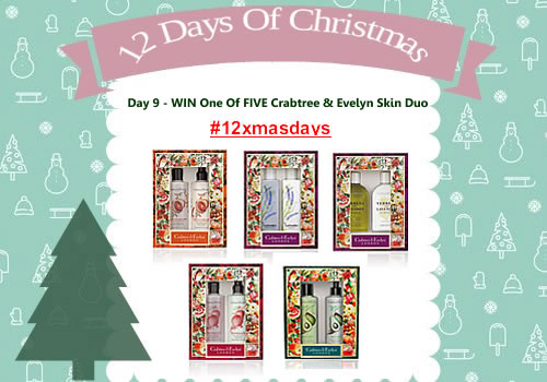 Day 9 #12XmasDays - WIN One Of FIVE Crabtree & Evelyn Skin Duo Sets