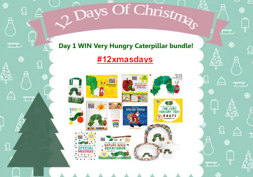 Day 1 #12XmasDays - WIN a HUGE Bundle of Very Hungry Caterpillar Goodies Worth £111