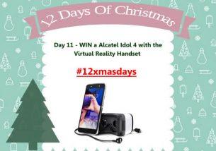 Day 11 #12XmasDays – WIN Alcatel Idol 4 with the free Virtual Reality Handset