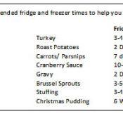 Turkey Leftover Timetable