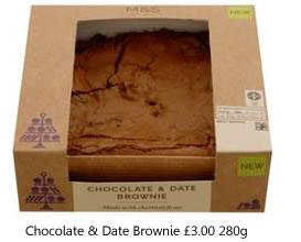 Chocolate & Date Brownie £3.00 280g