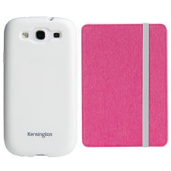 "Samsung Galaxy S III Kensington Gel Case in white AND a Techair 7"" tablet case in pink"