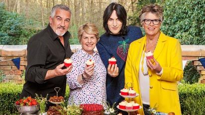 The Great British Bake Off Presenter and Judge's line up.