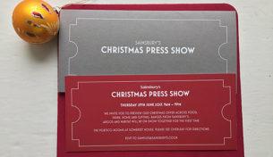 Sainsbury's, Argos and Habitat Christmas Press Show Invitation 2017