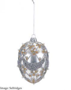 SELFRIDGES Gisela Graham Egg Ornament £10.00