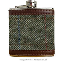 WIN: Take Our Poll For Your Chance To Win Harris Tweed Hip Flask