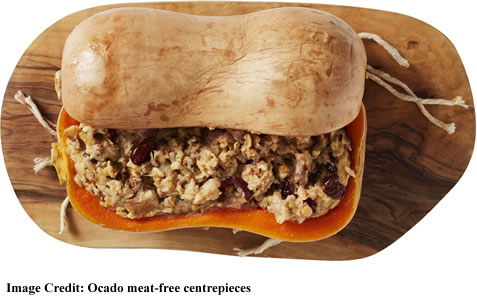 Ocado Vegan stuffing filled veg