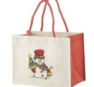 Jute & Co Tote Bag with Christmas Design, Currently priced at £4.51