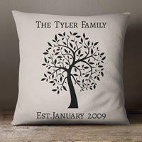 WIN: One Of Two Personalised 'Family Tree' Cushion From GiftPup.com