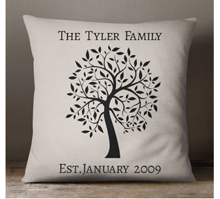 WIN - Giftpup.com Family Tree Cushion