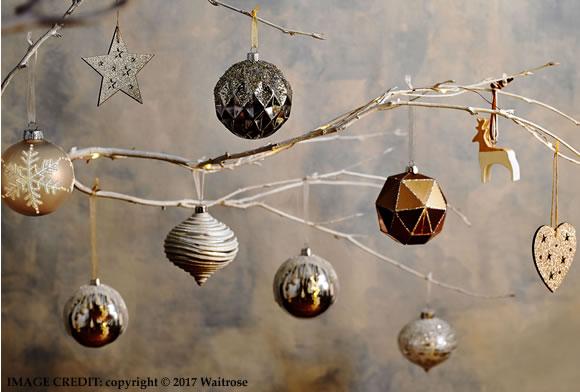 Waitrose Christmas trends 2017: Modern Metallics