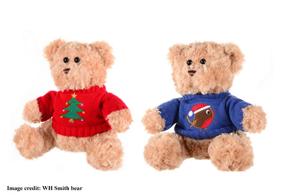 WH Smith Christmas Jumper Day 2017 Bear