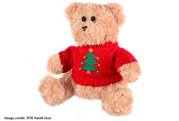Bear wearing Christmas jumper 2017