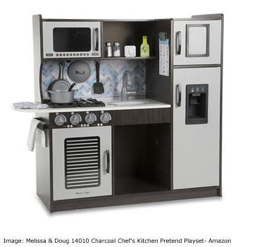 Amazon Top ten toys Christmas: Melissa & Doug 14010 Charcoal Chef's Kitchen Pretend Playset