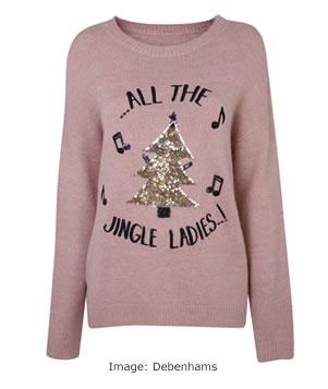 Christmas Jumpers 2017: Debenhams All the Jingle Ladies