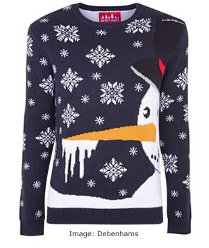 Christmas Jumpers 2017: Debenhams Red Herring - Snowman