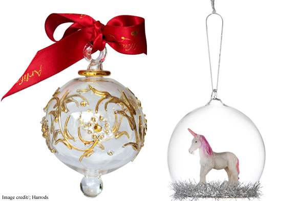 Harrods Christmas 2017 Baubles