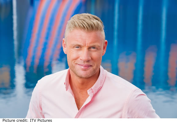 Freddie Flintoff who is hosting ITV Cannonball