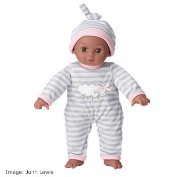 . John Lewis New Born Baby Doll