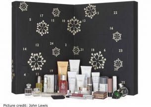 John Lewis opened beauty advent calendar 2017