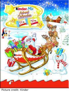 Kinder Mini Christmas Advent Calendar