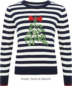 Christmas Jumpers 2017: Marks and Spencer Mistletoe Jumper