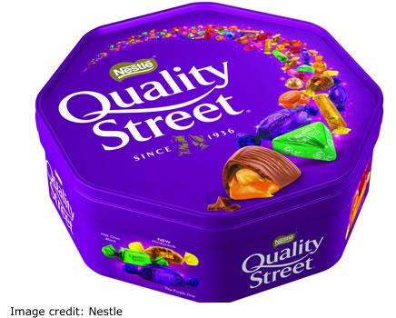 Nestle Christmas 2017 Quality Street Tub