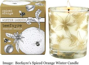 Beefayre's Spiced Orange Winter Candle