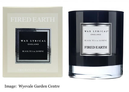 Fired Earth Wax Lyrical Black Tea and Jasmine sent to us by Wyevale Garden Centre