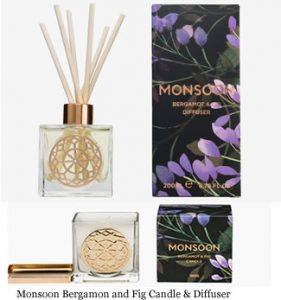 Monsoon Bergamon and Fig Candle & Diffuser