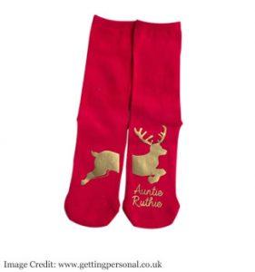 Personalised Socks - Reindeer