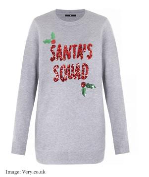 Christmas jumper 2017@ Very Santa Squad jumper