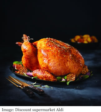 Aldi Specially Selected Exquisite Rumburgh Farm Hand Finished Free Range Bronze Whole Turkey lifestyle resize