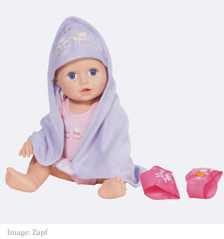 Baby Annabell Learn to Swim doll